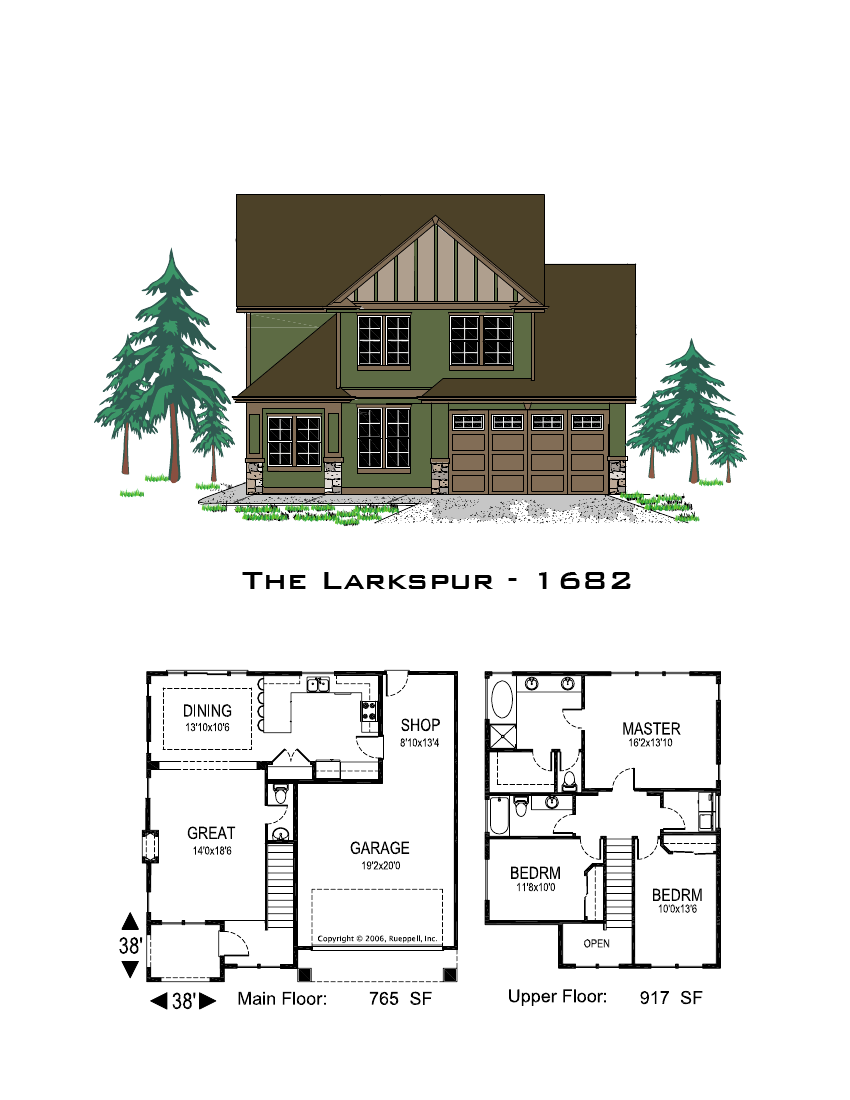 The Larkspur 1682 Sq Ft