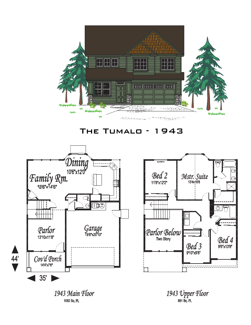 The tumalo 1943 sq ft for Oregon home plans