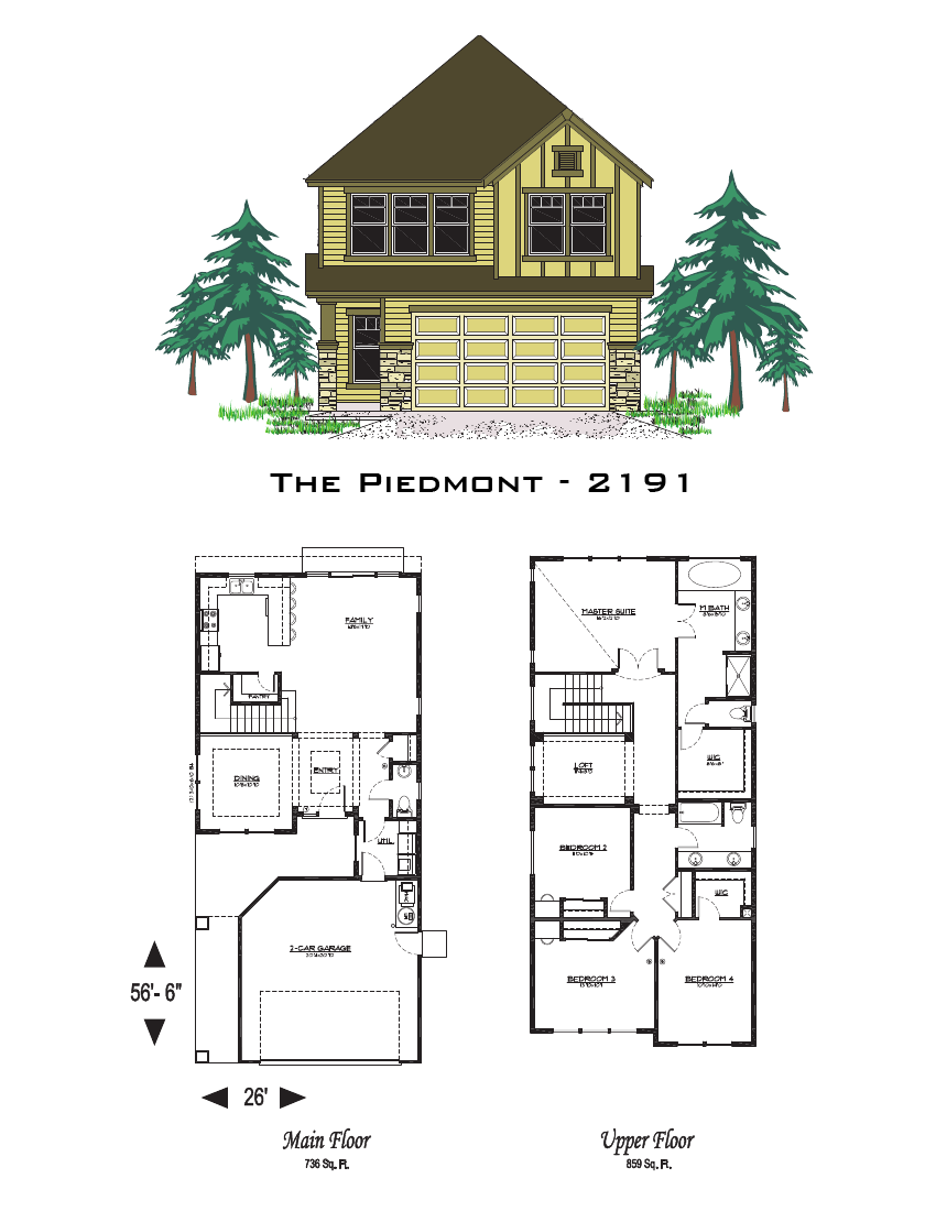 The Piedmont 2191 Sq Ft