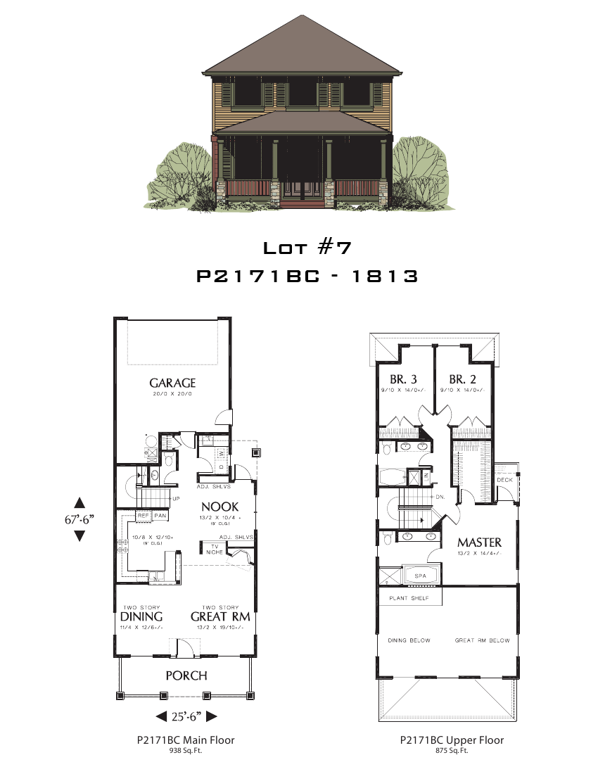 Lot 7 1813 sq ft for Oregon home plans